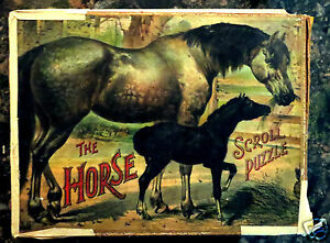 original 1898 brothers the horse scroll puzzle