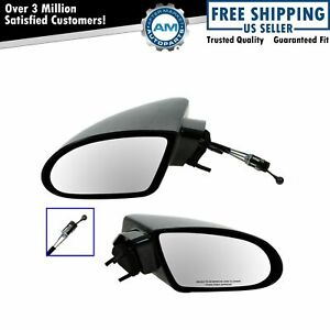 Manual Remote Side View Mirrors LeftRight Pair Set of 2 for 93-02 Chevy Camaro