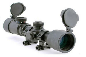 Compact Rifle Scope 3-9x42 with .223 Bullet Drop Compensator Complete with Rings