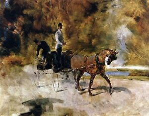 The one horse Carraige by Toulouse Lautrec Giclee Fine ArtPrint Repro on Canvas $44.95