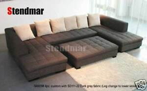 4PC NEW MODERN DESIGN FABRIC SECTIONAL SOFA SET S4805M
