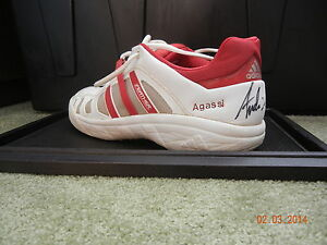 ANDRE AGASSI AUTOGRAPHED ADIDAS SHOE AUTO