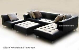 4PC MODERN EURO DESIGN LEATHER SECTIONAL SOFA S4707RB