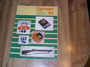 Lyman Products For Shooters Catalog PB ILLUS 1991  Reloading Bullet Casting
