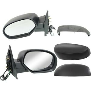 Side Mirrors Power Heated Folding Black Left amp; Right Pair Set for Chevy GMC $64.50