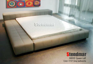 NEW MODERN EURO DESIGN PLATFORM BED GRAY SB005LQ