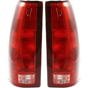 Set of 2 Tail Light For 88 98 Chevy K1500 Silverado LH & RH w Bulb