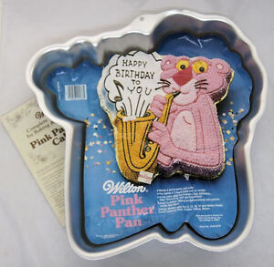 Pink Panther with Sax Cake Pan from Wilton 2576