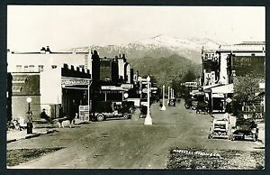 1924 MARKET STREET (downtown) REDDING CALIFORNIA Real Photo Postcard