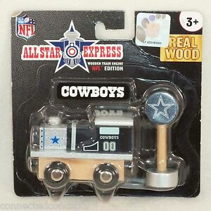 NFL Football Edition All Star Express Wooden Train Engine Dallas Cowboys $13.49