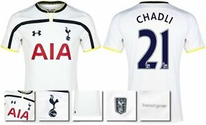 *14  15 - UNDER ARMOUR ; TOTTENHAM HOME SHIRT SS  CHADLI 21 = KIDS SIZE*