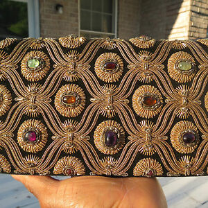 RARE ANTIQUE GENUINE Designer Vintage Van Cleef  and Arpels Jeweled Bag Clutch