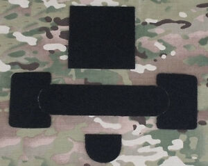 AIRSOFT MICH HELMET STICKERS PATCHES TAPE PADS SET FOR MANTA STROBE ETC BLACK UK