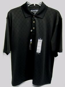 PEBBLE BEACH GOLF POLO BLACK DIAMOND SZ. M PERFORMANCE WICKING DRY FIT SHIRT NEW $13.88