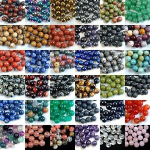Wholesale Lot Natural Gemstone Round Spacer Loose Beads 4mm 6mm 8mm 10mm 12mm $5.98