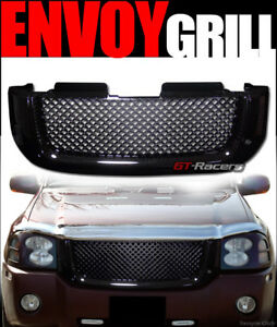 For 2002 2008 GMC Envoy Black Luxury Mesh Front Hood Bumper Grill Grille Guard $80.00