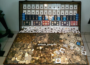 ☆ 100 Coin Lot From Old Estate Hoard ☆ GOLD .999 SILVER BULLION PCGS Ancient ☆