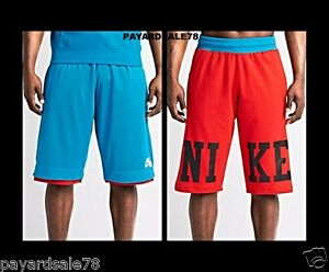MEN'S NIKE AIR BASKETBALL SHORTS REVERSIBLE MESH  COTTON DORM SHORTS FOOTBALL
