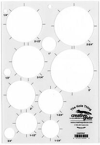 Creative Grids The Hole Thing Sewing and Quilting Ruler $7.99