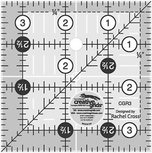 Creative Grids 3 1 2quot; Square Ruler Sewing and Quilting Ruler $9.99