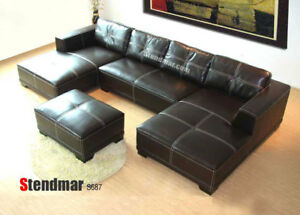 4PC MODERN MODERN DESIGN SECTIONAL LEATHER SOFA S687