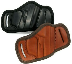 Right Hand Leather Open Top Quick Draw Belt Holster Choose Gun and Color $32.40