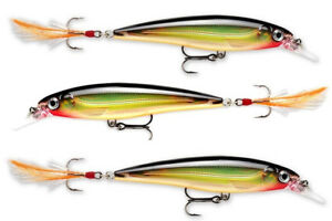 3 Rapala X-Rap - Clown - XR06 CLN Bass Salmon Pike Trout Perch Walleye Sea Lures