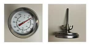 New Arrival Famp;C 2quot; BBQ SMOKER PIT GRILL THERMOMETER TEMP GAUGE New other