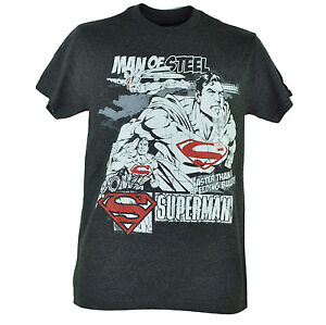DC Comics Superman Man Of Steel Faster Than A Bullet Graphic Tshirt Tee