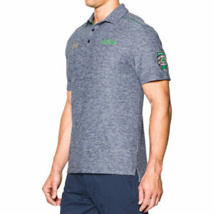 Notre Dame Fighting Irish Under Armour Shamrock Performance Polo - Navy - NCAA