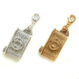 John Wind Charm Retro Camera for Necklace or Bracelet London Jewelry Maximal Art