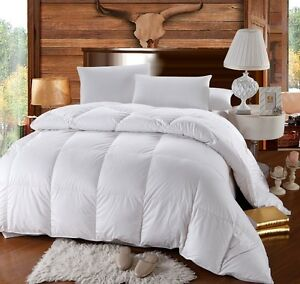 Oversized Extra Warmth White Baffle Box 500 TC Down Comforter 750 Fill Power
