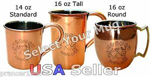 Moscow Mule Copper Cup - Select your Copper Mug Type