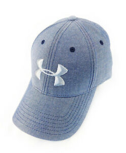 NEW Under Armour Performance Heat Gear Blue Steel Adjustable HatCap