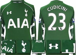 *15  16 - UNDER ARMOUR ; TOTTENHAM HOME GK SHIRT+ PATCHES  CUDICINI 23 = SIZE*
