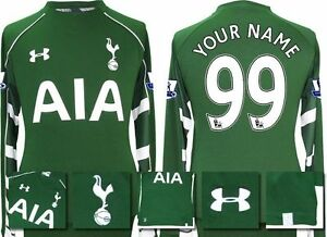 *15  16 - UNDER ARMOUR ; TOTTENHAM HOME GK SHIRT+ PATCHES PERSONALISED = SIZE*