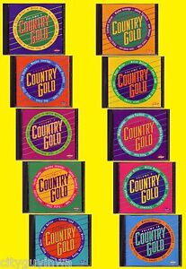 COUNTRY GOLD COLLECTION Volume 1-2-3-4-5-6-7-8-9-10 Various Artists CD Lot 70s