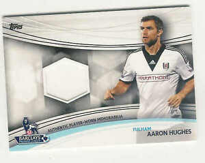 2013 14 TOPPS BARCLAYS ENGLISH PREMIER LEAGUE GOLD RELICS AARON HUGHS JERSEY