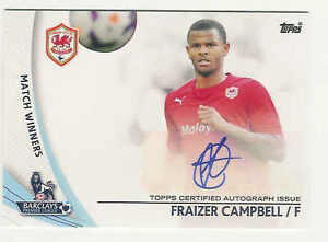 2013 14 TOPPS BARCLAYS ENGLISH PREMIER LEAGUE GOLD FRAIZER CAMPBELL AUTO