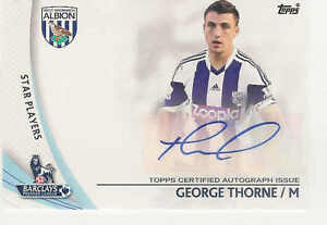 2013 14 TOPPS BARCLAYS ENGLISH PREMIER LEAGUE GOLD AUTOGRAPHS GEORGE THORNE AUTO