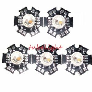 10pc 12W RGBW red green blue white high power led bead Lamp light with 20mm Base