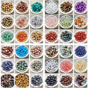 Wholesale Natural Gemstone Round Spacer Loose Beads 4mm 6mm 8mm 10mm $8.99