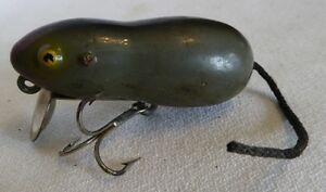 Collectible Antique Fishing Lure: Mouse (paw paw Heddon)
