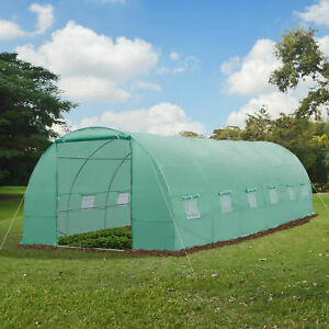 New Greenhouse 26#x27;x10#x27;x7#x27; Large Size Walk In Hot Green House Plant Gardening
