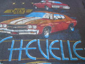 100% CHEVY MUSCLE VINTAGE 70S TEE SHIRT CHEVROLET MUSCLE CAR TEE SHIRT THIN