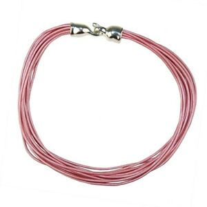 Simon Sebbag Leather Necklace Pearl Pink Add Sterling Silver Slide