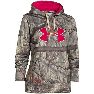 Under Armour Womens Camo Big Logo Hoodie Mossy Oak Treestand Large