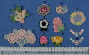 Pick Swiss Vintage Small Embroidered Floral Trim 3