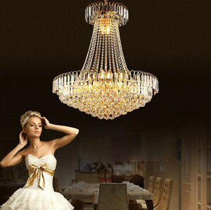 European court Crystal Light Ceiling Villa Living Stairs Lighting Fixture #96010