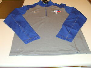 Toronto Blue Jays Dri Fit Baseball MLB Touch 12 Zip Pullover LS T Shirt Large